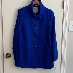Larry Levine NWT Funnelneck Dress Coat M